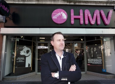 Larry Howard, Hilco Ireland CEO, outside HMV Henry Street, Dublin.