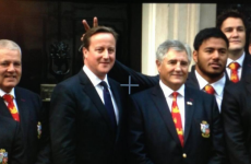 Manu Tuilagi 'sorry' for David Cameron bunny ears photo prank