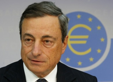 President of the European Central Bank, Mario Draghi.
