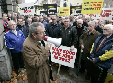 Cribben at a publicans' protest outside the Dáil in 2011.
