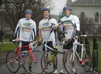 Wallace brothers, Richard, Paul and David, are taking part in the Malin to Mizen Cycle.
