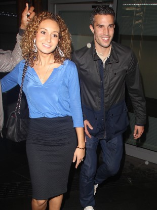 Old Trafford talisman Robin van Persie and his wife Bouchra seen out and about in Manchester at the weekend.