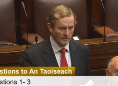 Enda Kenny answering questions today