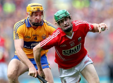 Cork's Seamus Harnedy and Cian Dillon of Clare.