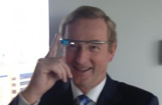 PIC: The Taoiseach tried on Google Glasses today