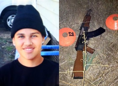 Andy Lopez, 13, and the replica rifle he was holding when he was shot.