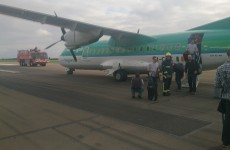 Aer Lingus regional flight bursts tyre after landing in Cardiff