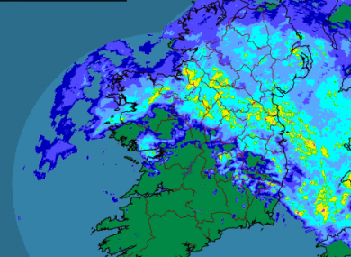 The rain across Ireland at 5.30am