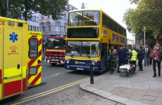 Dublin bus involved in a crash at College Green in Dublin