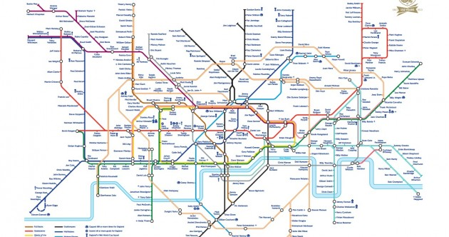 Delays on the back-line? Check out this football-inspired London Tube map