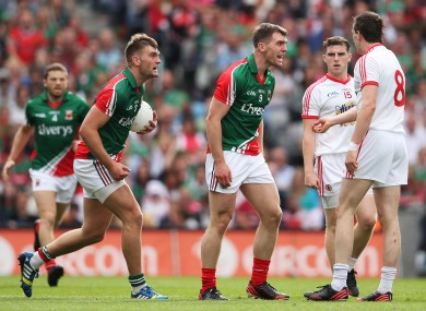 Seamus and Aidan O'Shea in action against Tyrone: will either Mayo man be named an Allstar this year?