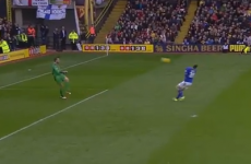 Bizarre Championship goal as Leicester striker scores with his face