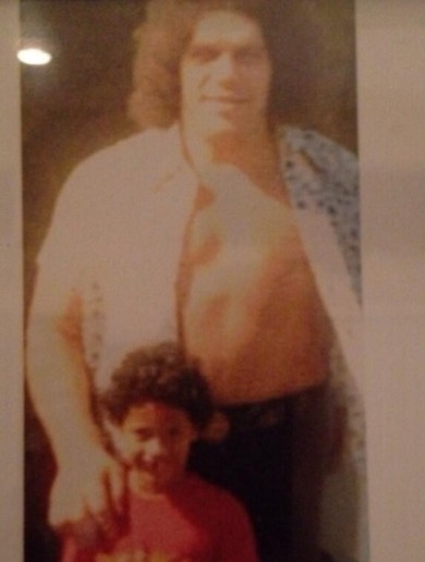 Snapshot: The Rock as a 5-year-old with Andre the Giant