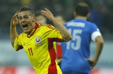 VIDEO: Greek defender scores screamer of an own goal in playoff with Romania