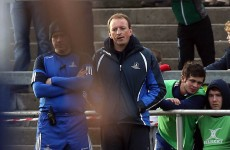 Former Munster lock Mick O'Driscoll on the sidelines as Cork Con win