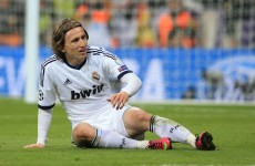 Luka Modric scores a screamer to put Real Madrid in the driving seat